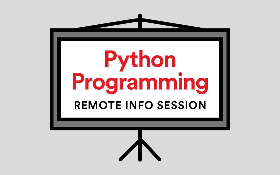 Python Programming Info Session Remote Livestream