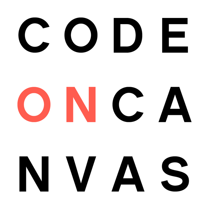 Code on Canvas Photo