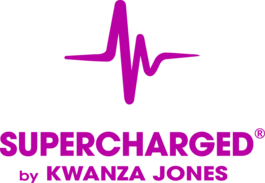 SUPERCHARGED by Kwanza Jones  logo
