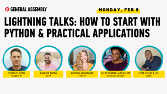 Lightning Talks: How to Start with Python & Practical Applications