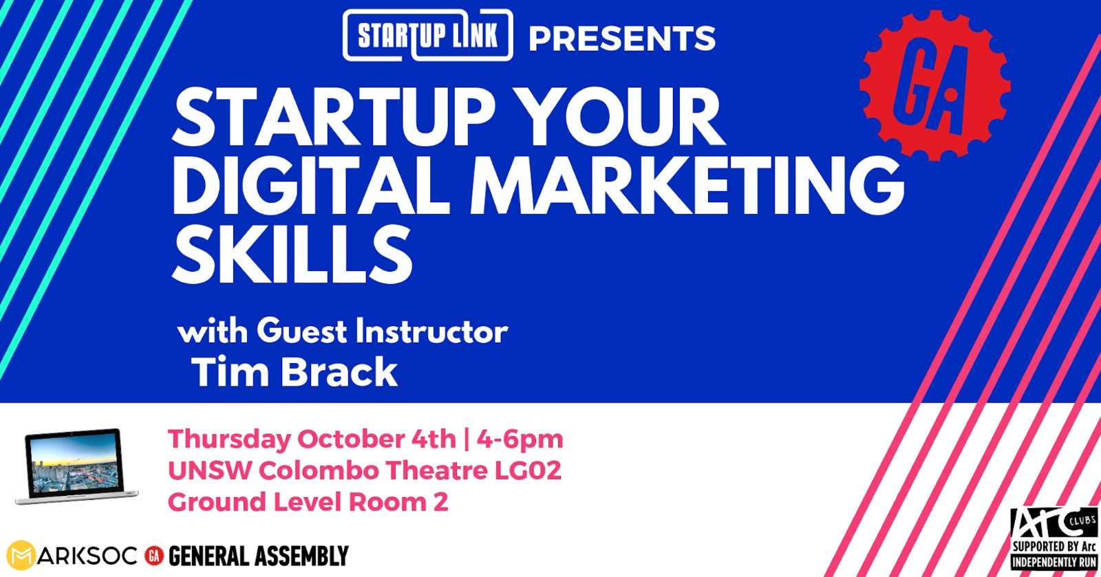Intro to Digital Marketing with StartUp Link