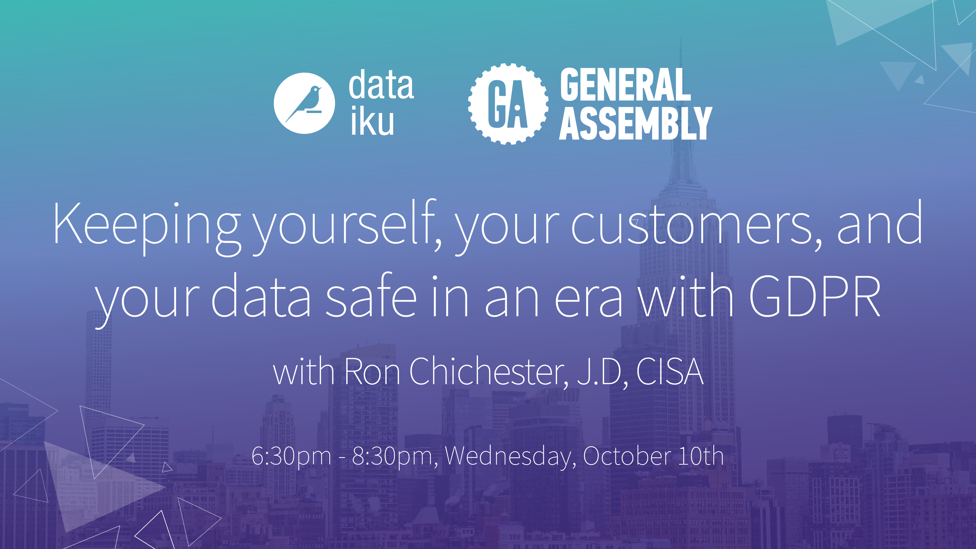 Keeping yourself, your customers, and your data safe in an era with GDPR