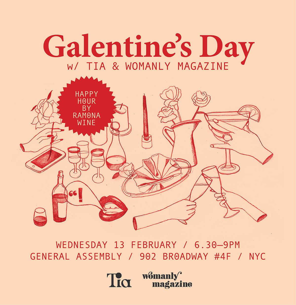 Galentine's Day with Tia & Womanly Magazine