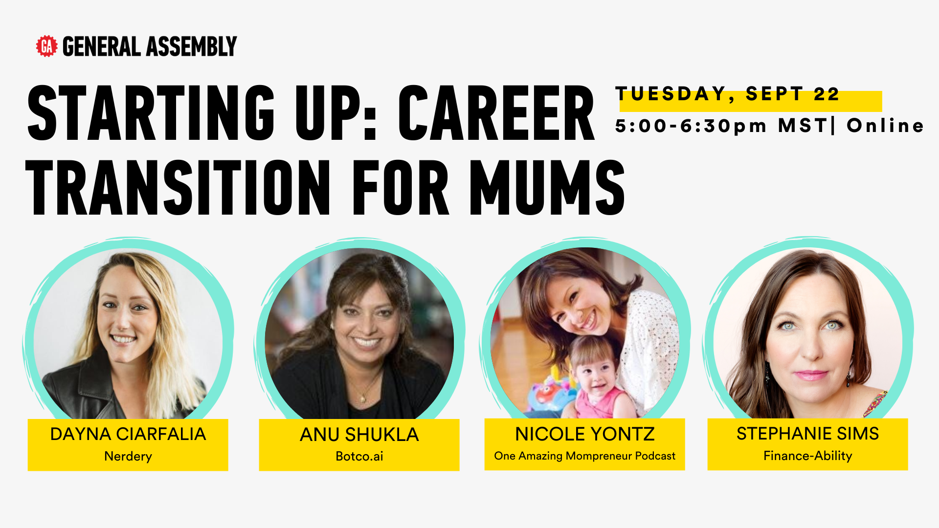 Starting Up: Career Transition for Mums