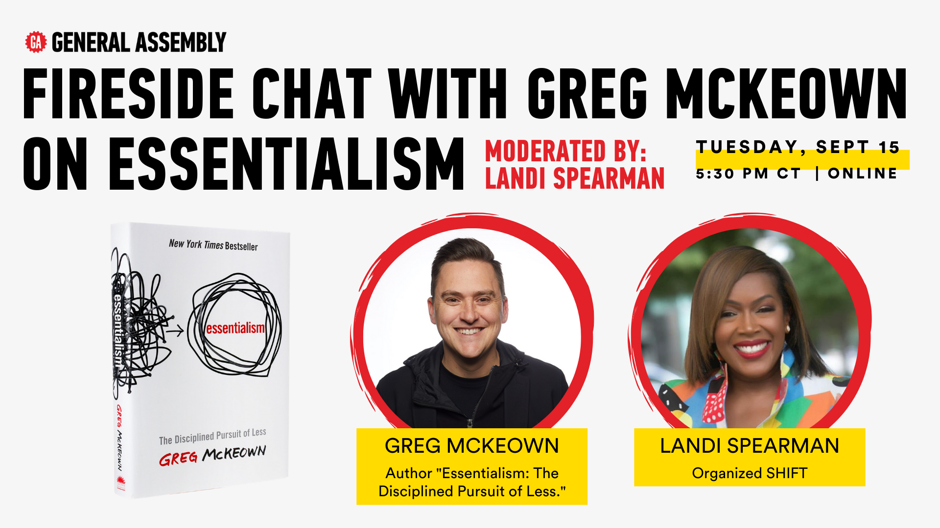 Fireside Chat with Greg McKeown on Essentialism