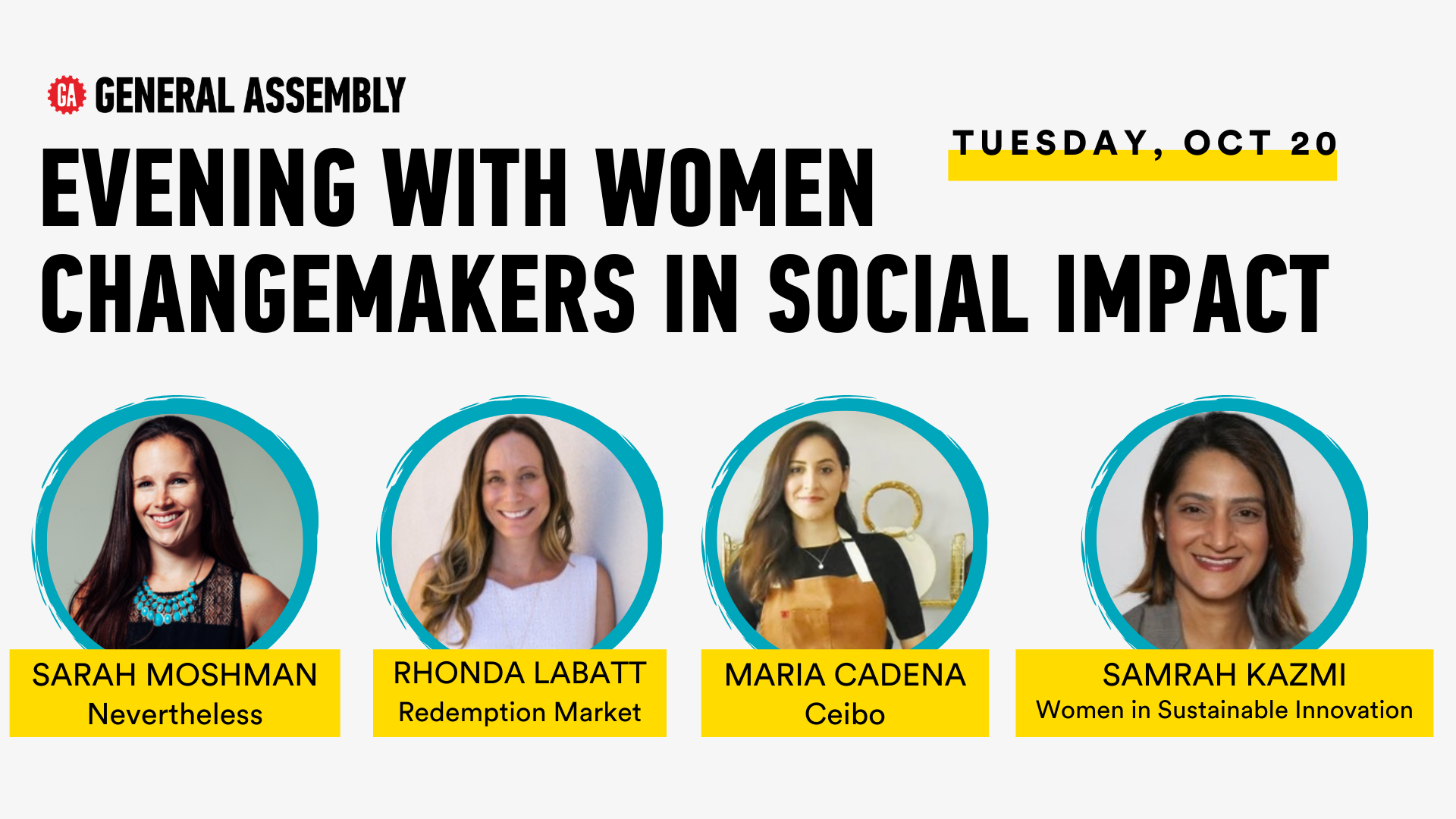 Evening with Women Changemakers in Social Impact