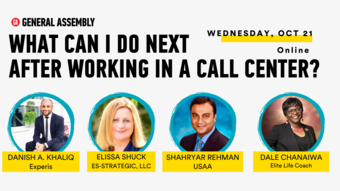 What can I do next after working in a call center?