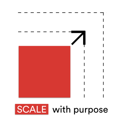 Scaling with Purpose