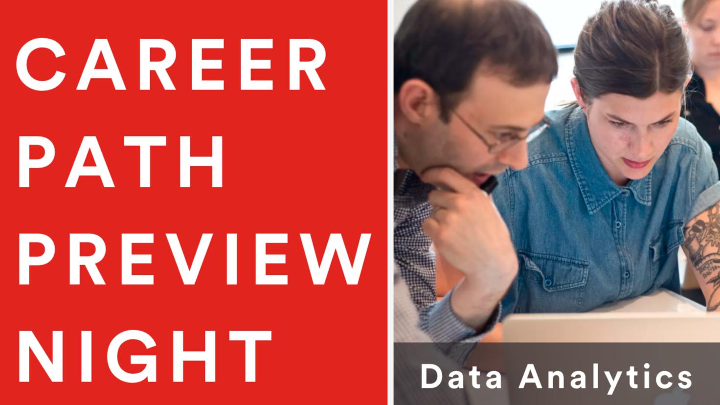 Career Path Preview Night: Data Analytics